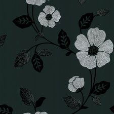 "Ink Veined 33' x 20.5"" Floral and Botanical 3D Embossed Wallpaper"