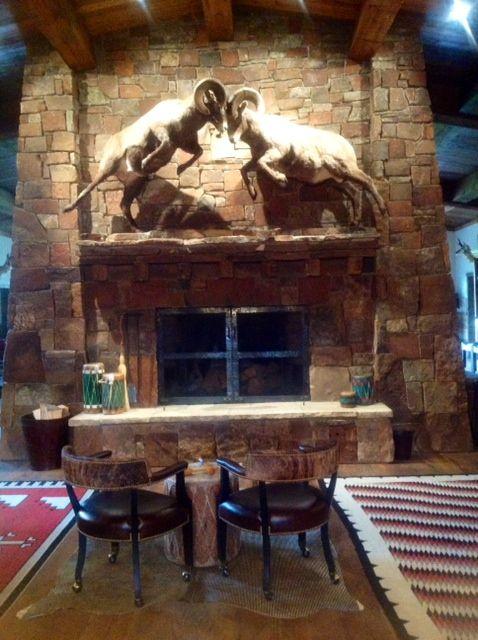 Elk mount fireplace - photo#19
