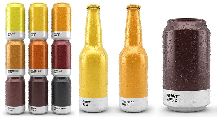 Awesome Beer Packaging Matches Beer Colors with Their Pantone Shades
