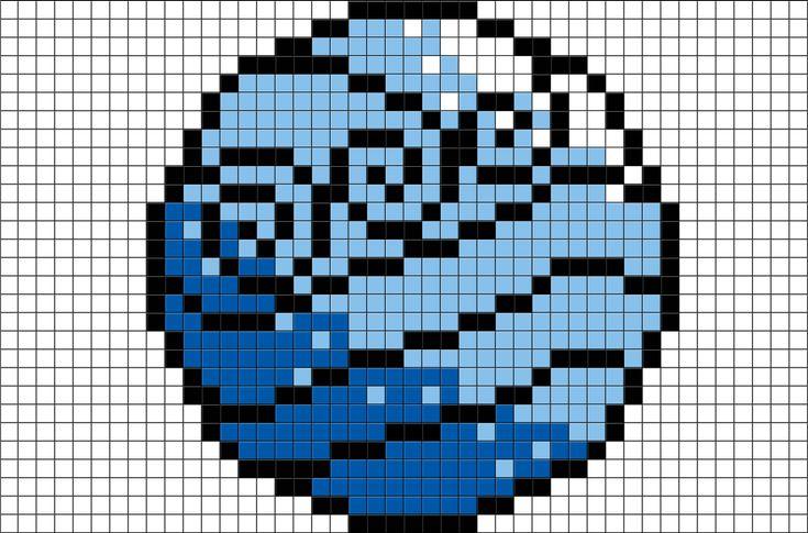 Avatar Last Airbender Water Tribe Symbol | Brik Pixel Art ...