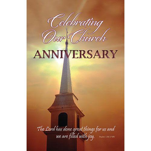 Bulletin-Church Anniversary (Pkg-100)   Church anniversary ...