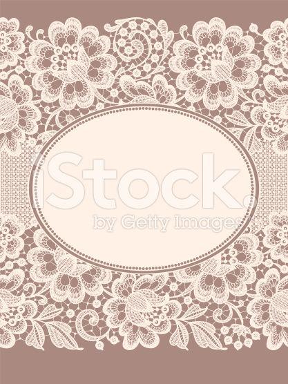 Lace Card Ribbon royalty-free stock vector art