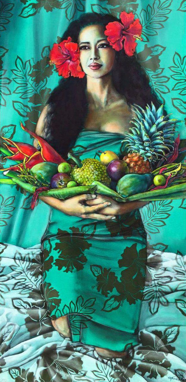 Polynesian Tiki Painting Blue