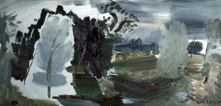 Landscape in Essex  by Ivon Hitchens Date painted: c.1945–1954 Oil on canvas, 52 x 104 cm