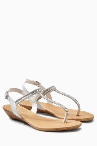 Buy Silver Jewel Low Wedges from the Next UK online shop