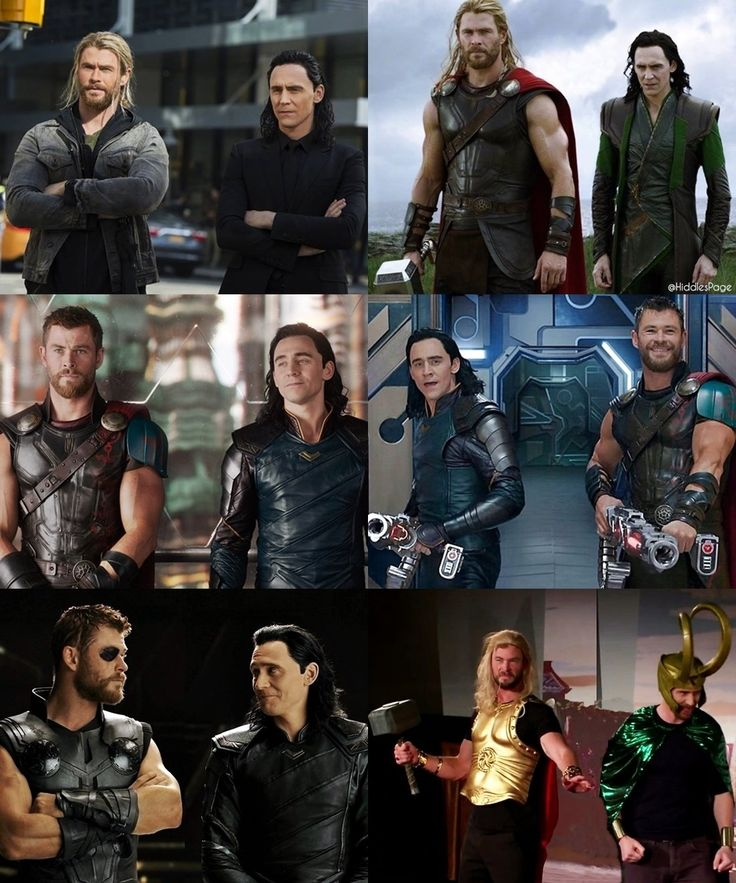 Thor and Loki....on your left (except for the one in the middle)