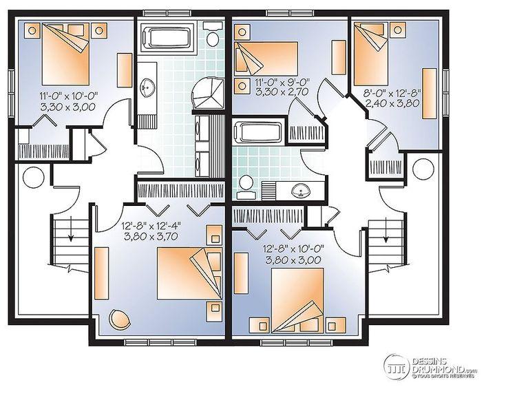 389 best Plans de maisons images on Pinterest Duplex plans, Garage