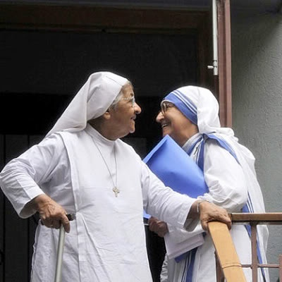 agra - missionaries of charity orphanage and the young novice