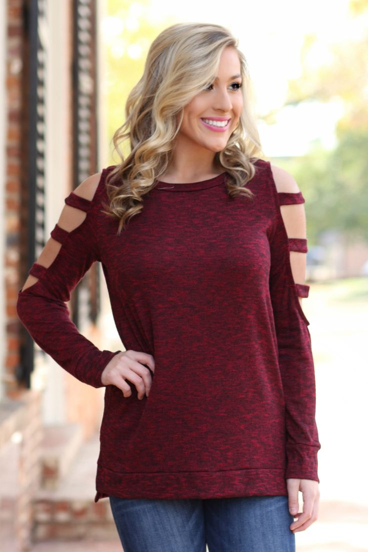 Lavish Boutique  - All It Takes Sweater: Wine , $44.00 (http://lavishboutique.com/all-it-takes-sweater-wine/)