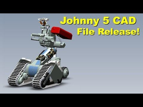 XRobots - Short Circuit Johnny 5, Open Source CAD File Release by Input-Inc! - YouTube