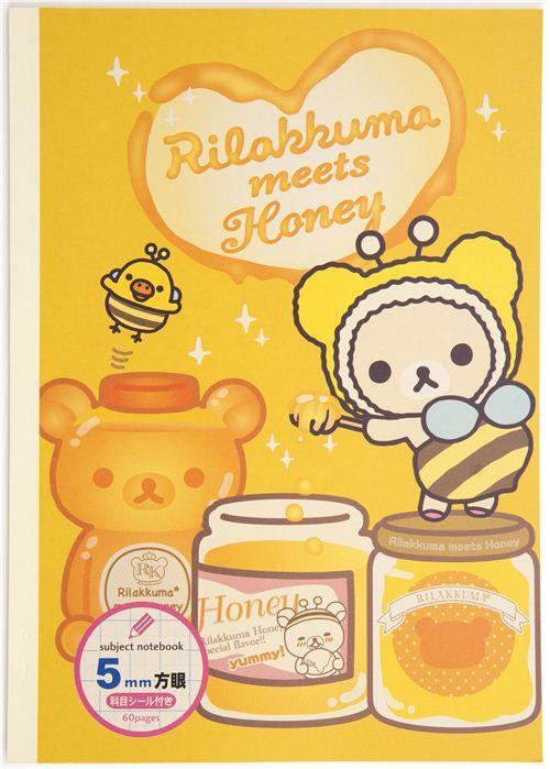 kawaii Rilakkuma bear honey bee Notepad drawing book 1