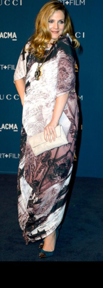 Drew Barrymore, glowing with number two. #pregnant #celebrities #maternity #style #famous