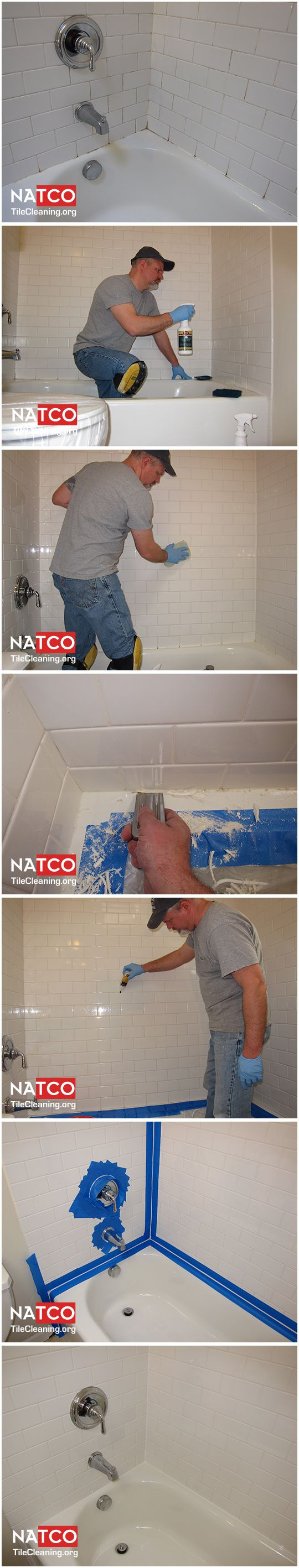 How to clean, kill and remove the mold in a ceramic tile shower.