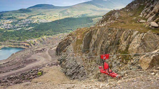 Zip World, Penrhyn Quarry, Bethesda, Snowdonia, Wales