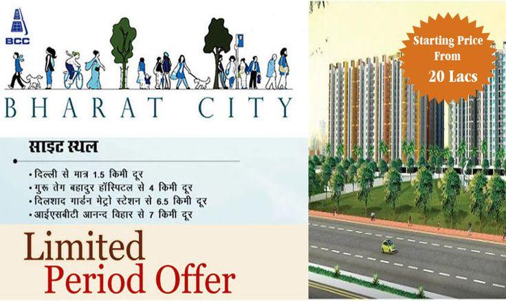 #Bharat_City_Ghaziabad , Indraprastha Awasiya Yojna, #Ghaziabad Shift Today & No Rent till Possesion 1 bhk - 19 Lac 2 bhk - 27 Lac 500 Family Shifted Free Car parking, Free Club Membership Call 8800496203 , 8800495554 or visit at http://goo.gl/379B9P