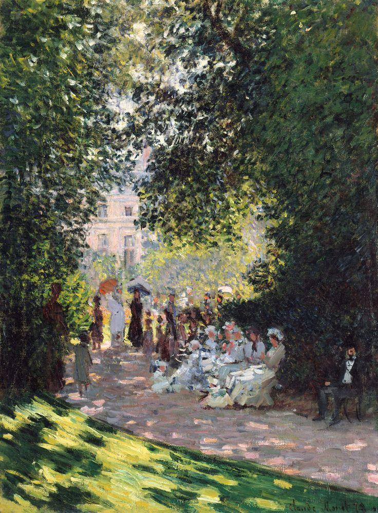 Le Parc Monceau, Monet, 1878# Claude Monet (1840-1926) est un peintre emblématique du mouvement impressionniste, qui tire son nom de l'une de ses compositions : Impression, soleil levant, daté de 1872. A Giverny, il exécute de célèbres séries (comme les meules de foin) pour étudier les variations de la lumière. De la fin des années 1890 jusqu'à sa mort en 1926, le peintre se consacre au cycle des Nymphéas, aujourd'hui exposé au musée de l'Orangerie (Paris)#http://urlz.fr/3gB5#met.com#1,1,24