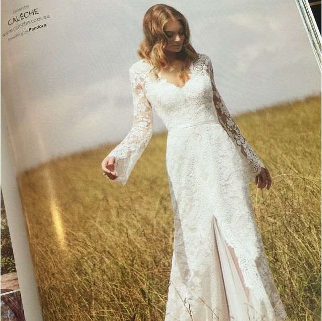 Our 'Taylor' gown in the latest issue of Modern Wedding // perfect for the Bohemian bride