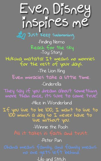Disney Inspirational Quotes from Finding Nemo, Toy Story, ...