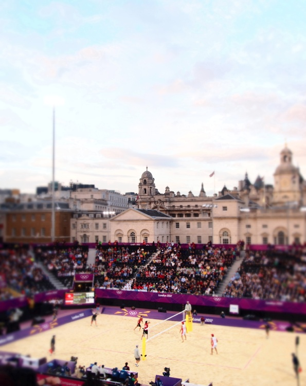 London 2012 Olympics | Beach Volleyball, Horse Guard's Parade | via http://brightbazaar.blogspot.com
