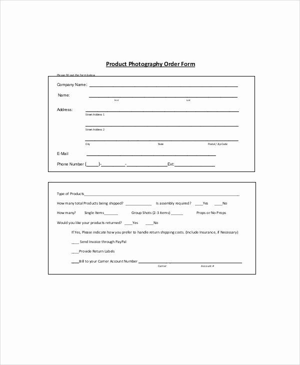 30 Product Order Form Template Free In 2020 Order Form