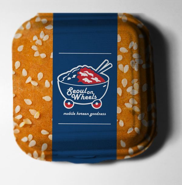 Seoul on Wheels Food Packaging by Samuel Osh, via Behance. I'm hungry just looking at the box #packaging PD