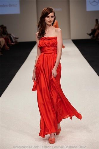 CHARLIZE Dress Dark Tangerine @byLisaBrown