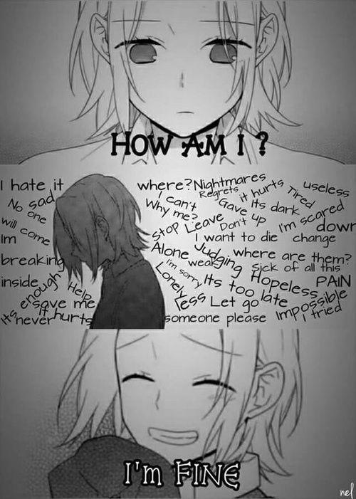 Im Always Fine Isnt That Right World Sad Anime