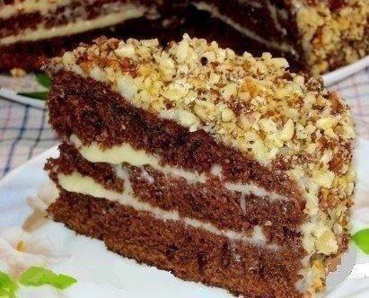 ШОКОЛАДНЫЙ ТОРТ НА КЕФИРЕ «ФАНТАСТИКА» Обожаю рецептик    Очень простой и необычный рецепт вкусного торта. Приготовить сможет любой. Попробуйте обязательно!  Ингредиенты: Для теста: ●Кефир или простокваша -300 г ●Сахар – 1 стакан ●Яйца – 2 шт. ●Растительное масло – 2 ст. л. ●Какао – 2-3 ст. л. ●Сода – 1 ч.л. ●Мука – 2 стакана  Для крема: 1- вариант – сметанный крем ●Сметана – 400 г ●Сахар – 1 стакан ●Масло сливочное -200 г  2- вариант – заварной крем ●Яйца – 2 шт. ●Сахар – 300 г ●Мука-2 ст…
