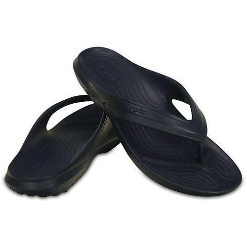 Crocs Classic Flip Toe Post Flip Flop Navy A flip that s as comfortable as  the