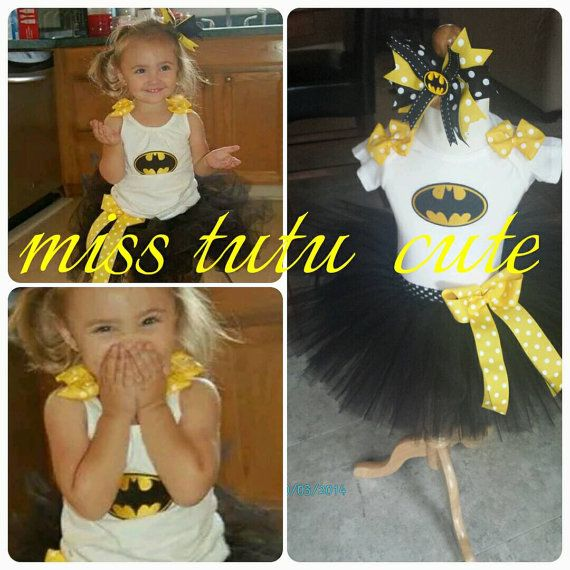 Batman tutu outfit Bat girl Batman tutu 1st by MissTutuCute2
