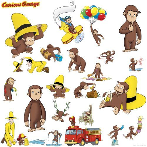 RoomMates Children's Repositonable Wall Stickers, Curious George RoomMates http://www.amazon.co.uk/dp/B000FT4Q60/ref=cm_sw_r_pi_dp_4yRZub0JX6EY0
