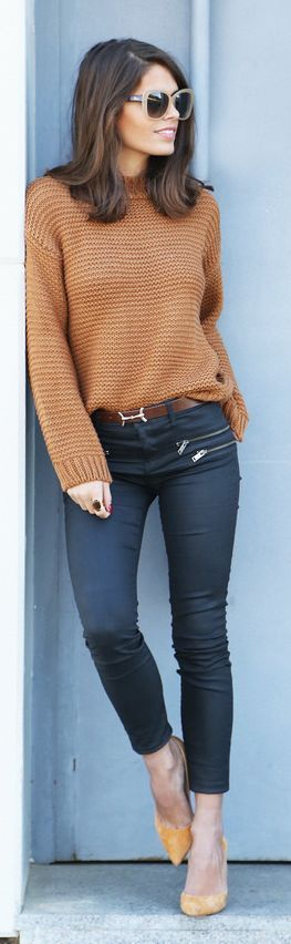 Camel Knit Sweater by Seams For a Desire