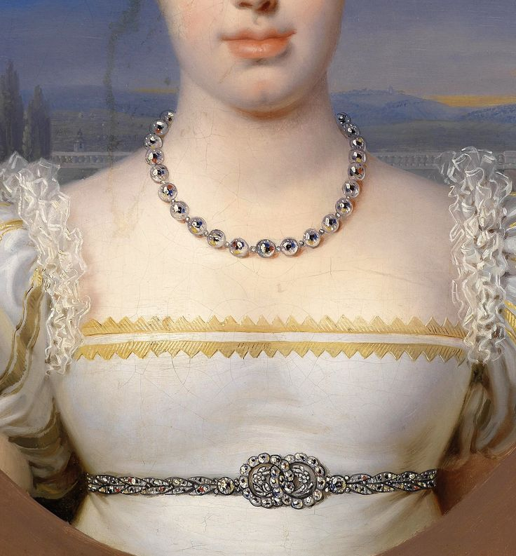 Portrait of Princess Marie- Caroline- Ferdinanda of Austria by Johann- Peter Krafft