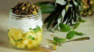 Enkel og sunn  yoghurt-frokost