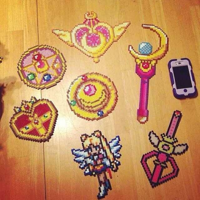 Sailor Moon perler beads by plurprincess