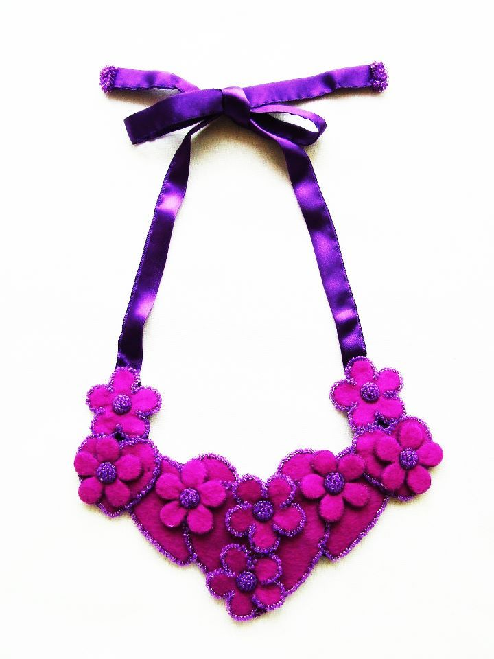 handmade felt necklace