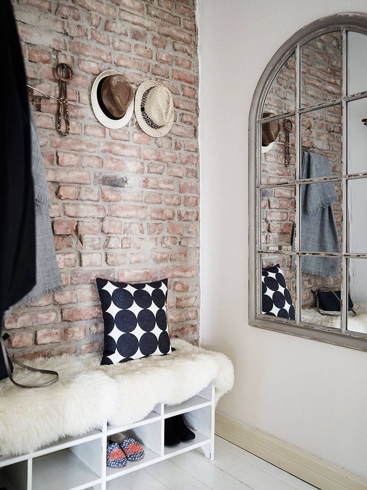 Exposed brick in a Gothenburg apartment gravityhomeblog.com - instagram - pinterest - bloglovin