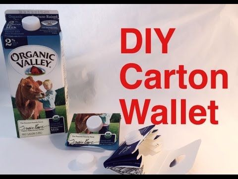 Hey guys, In this video, I'll show you how to recycle a milk or juice carton into an adorable looking wallet. It's great for cards, change or pretty much any...