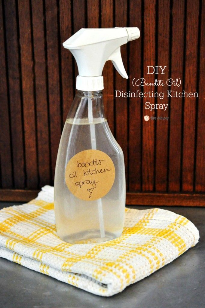 Bandits Oil Disinfecting Kitchen Spray Recipe