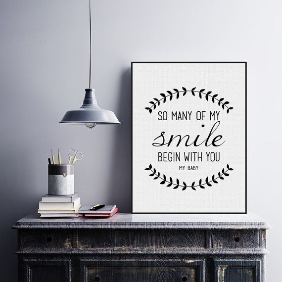 Freeshipping Black White Minimalist Typography Smile Love Quotes A4 Art Print Poster Wall Art Canvas Painting Living Room Decor by PicSaying