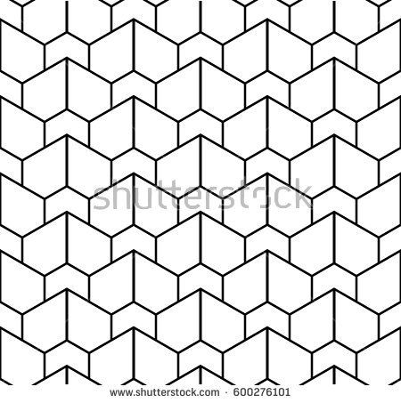 Abstract geometric pattern with lines. A seamless vector background. Black and white texture. Graphic modern pattern.