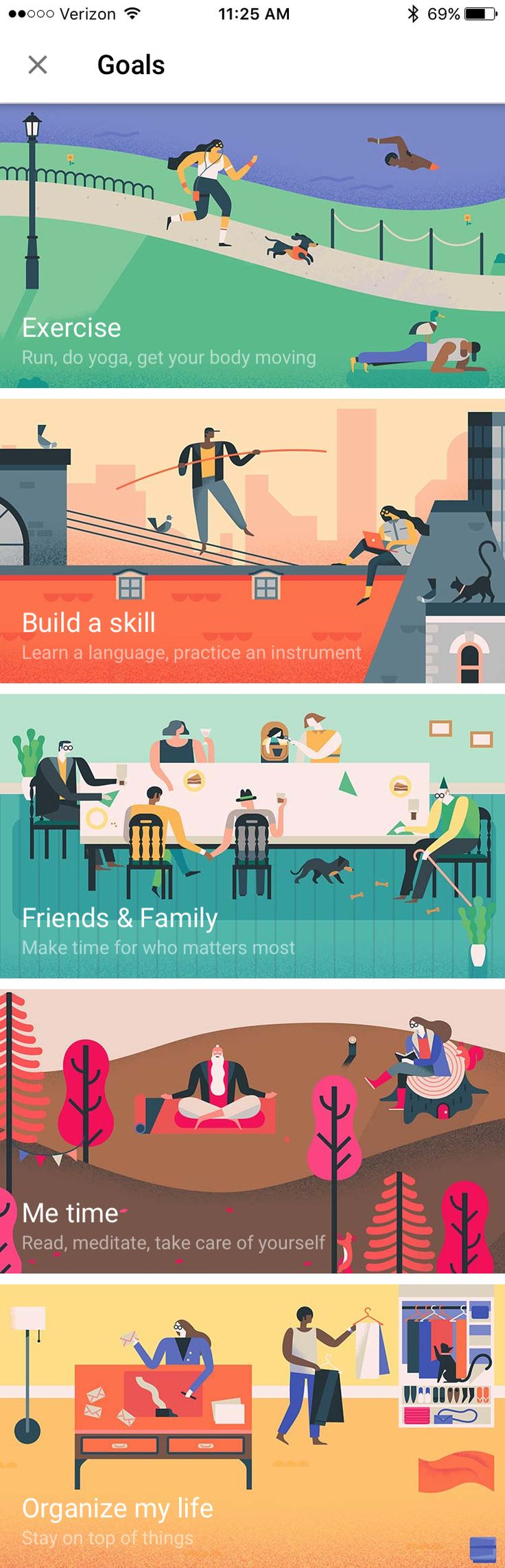 Google Calendar Goals Illustrations — Owen Davey