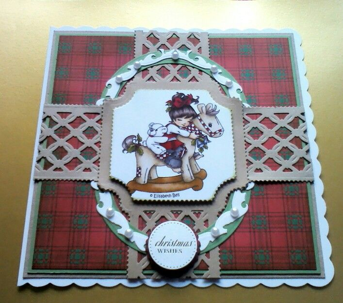 This card was made with the tonic studios diamond tellis die set,the topper is hobby house and the sentiment is craftworks.