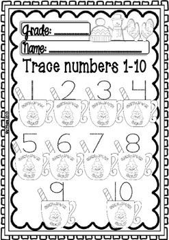 Maths and ELA WINTER Centers for Pre-k/1st Grade (Funny