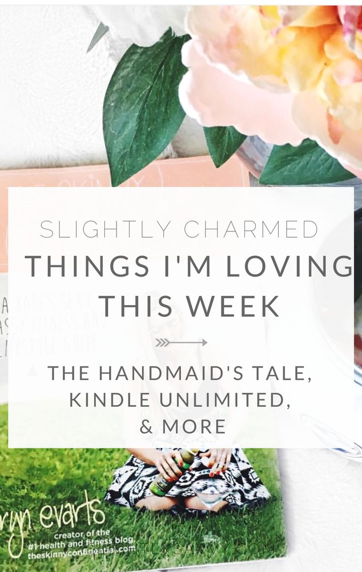 weekly wrap up of things I'm loving like The Handmaid's Tale, Kindle Unlimited, & Urban Outfitters coffee table books.