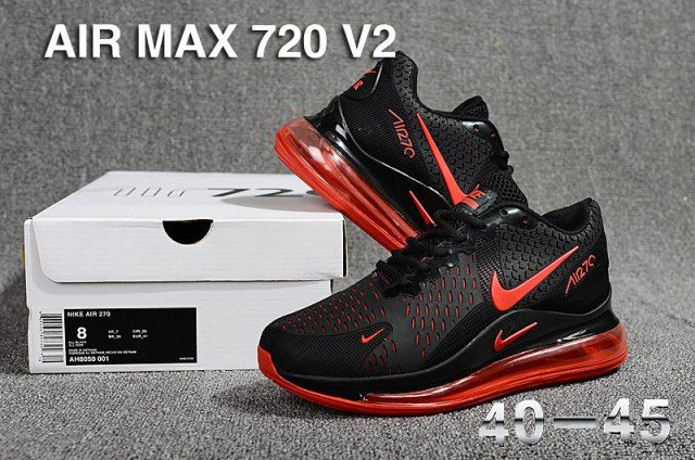 Nike Air Max 720 V2 KPU Men's Running Shoes Black Red