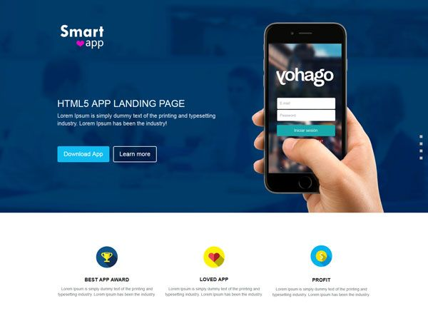 SmartApp Landing Page