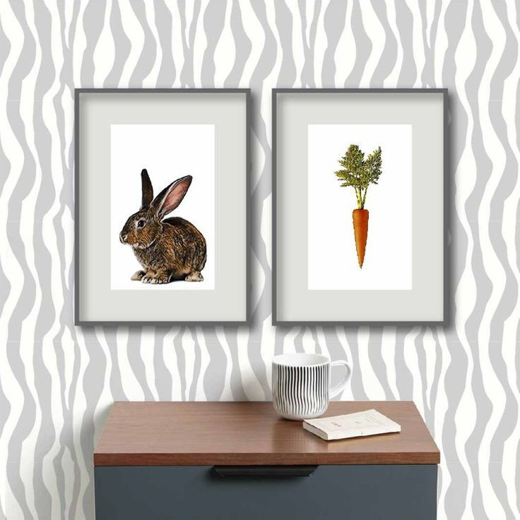 bunny print downloadable print set of 2 nursery puppy prints instant download Rabbit and Carrot