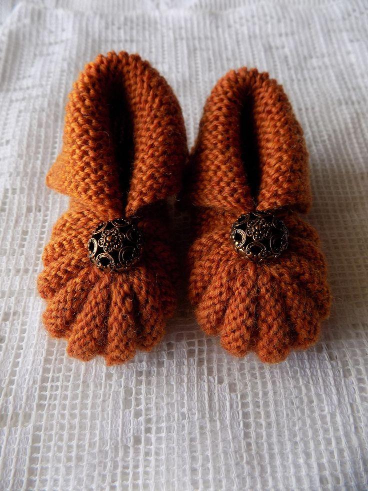 Chaussons Hollandais ou dit  citrouille marron
