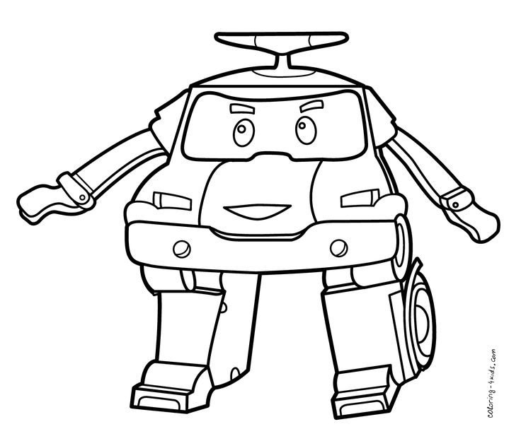 Robocar Poli coloring pages for kids, printable free ...
